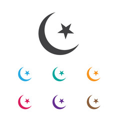 of religion symbol on islam vector image