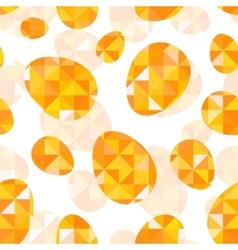 Orange diamond eggs seamless pattern vector image