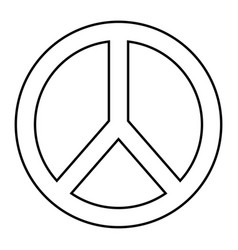 Peace and love symbol outline design vector