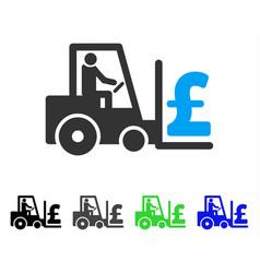 Pound money warehouse flat icon vector