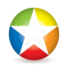 Rainbow star icon vector image vector image