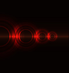 Red frequency wave with line abstract background vector