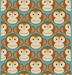 seamless pattern background tile - monkeys new vector image vector image