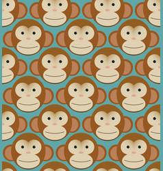 Seamless pattern background tile - monkeys new vector