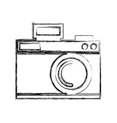 sketch draw icon camera cartoon vector image