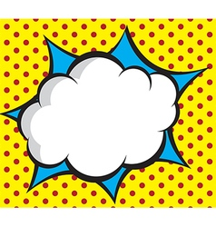 speech bubble pop artcomic book background vector image vector image