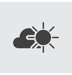 Sunny weather icon vector image vector image