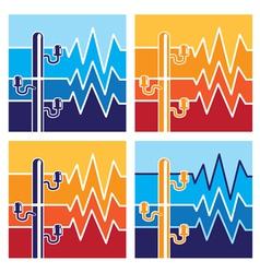 Symbols of high voltage vector