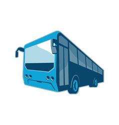 Tourist shuttle bus coach retro vector