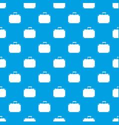 travel bag pattern seamless blue vector image