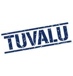 Tuvalu blue square stamp vector