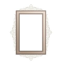 Vertical vintage frame vector image vector image
