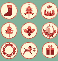 Vintage Christmas symbols isolated for design vector image vector image