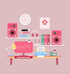 Work desktop vector