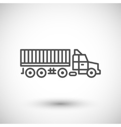 Truck trailer line icon vector image