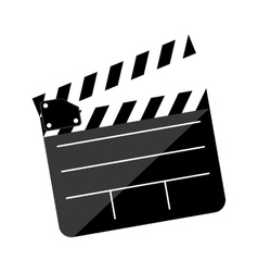 Open clapperboard icon image vector