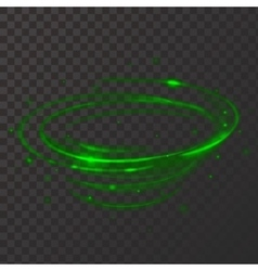 Green neon plasma circle shiny frame vector
