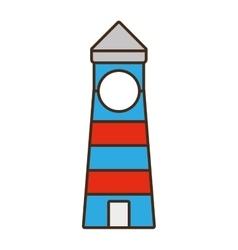 cartoon lighthouse building vector image