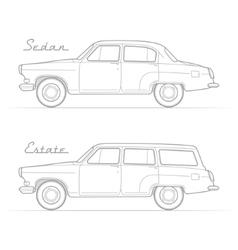 Classic retro car silhouette image vector