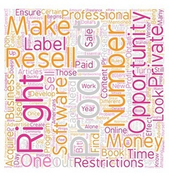 Private label resell rights what you need to know vector