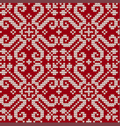 Traditional knitting pattern for ugly sweater vector