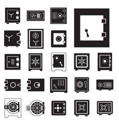 safe icon isolated or security and protection sign vector image