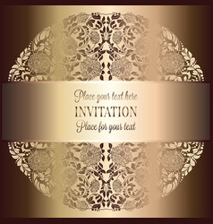 abstract background  luxury beige and gold vintage vector image