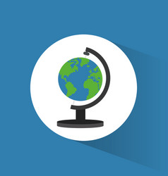 Globe world travel icon vector