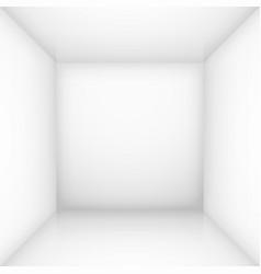 White simple empty room interior box for design vector