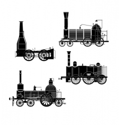 Locomotives vector