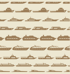 Ships and boats vintage seamless pattern vector