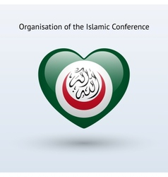 Love organisation of islamic conference symbol vector