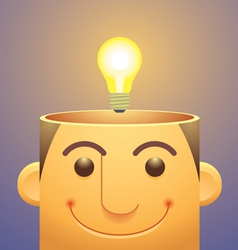 Good ideaslight bulb over head vector