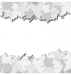 paper leafs vector image