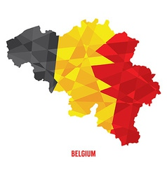 Map of belgium vector