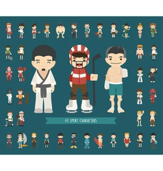 Set of 43 sport characters vector