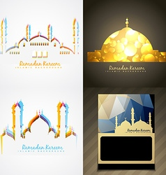 Attractive set of ramadan kareem festival vector