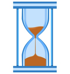 Hour glass timer vector