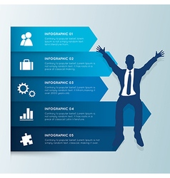 Infographic design template businessman vector