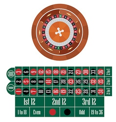 American roulette table vector
