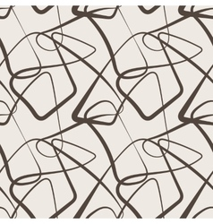 Seamless abstract pattern of curled lines vector