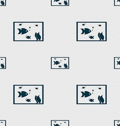 Aquarium fish in water icon sign seamless abstract vector