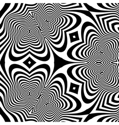 Pattern with optical optical art vector
