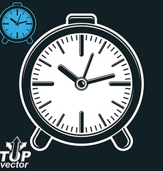 Elegant table clock invert version included eps 8 vector