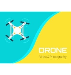 Flat drone vector