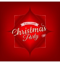 Merry christmas party invitation template eps 10 vector