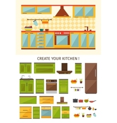 Interior kitchen creation vector