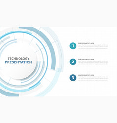 abstract blue circle digital technology template vector image