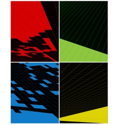 abstract vertical banner vector image vector image