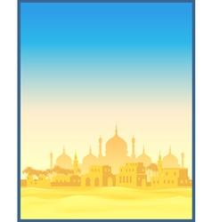Ancient Arab town vector image